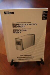 Nikon Super Coolscan V or 5000 ED Film Scanner MANUAL English, French, Spanish