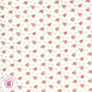 Moda SANCTUARY 44254 11 White Pink Small Floral Roses 3 SISTERS Quilt Fabric