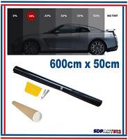 Film solaire de qualite 6m x 50cm, teinté 15% VLT (couleur Noir) auto,batiment