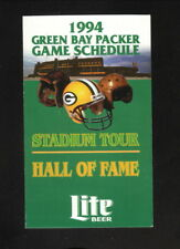 Green Bay Packers--1994 Pocket Schedule--Miller Lite