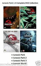 JURASSIC PARK QUADRILOGY DVD PART 1 2 3 4 MOVIE ALL FILMS WORLD Collection New