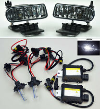 Chevy Silverado Tahoe Suburban Escalade Clear Front Fog Lights + 6000K HID kit