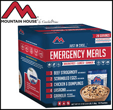 NEW Mountain House Emergency Freeze Dried Meal Kit 15-Pouch Assortment - 3.6 lbs