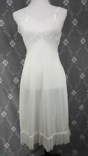 Charmode 34 Vintage White Accordian Pleat French Lace Wedding slip