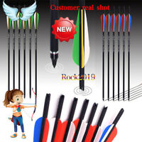 Hunting Crossbow Carbon Arrow 16/20 Inches Spine 400 for Crossbow Archery  Shoot