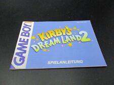 Kirbys Dream Land 2 Game Boy Spielanleitung Anleitung Manual