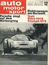Auto Motor Sport 1967 12/67 Mercedes 200 D lang Triumph GT6 Volvo 144 S