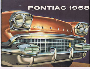 1958 CANADIAN PONTIAC SALES BROCHURE, DELUXE CANADIAN VERSION, NEW, unreserved!!
