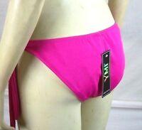 YMI NEW Hot Pink Swimwear Swim Bikini BOTTOMS ONLY Womens Size Large 12 14 NWT