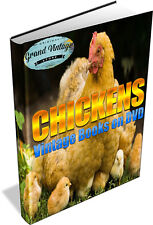 CHICKEN & POULTRY KEEPING ~ Vintage Books on DVD ~ Hen Coop, Run, Egg Incubator