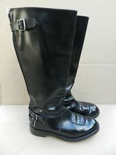 Sz 7 GOLDTOP TROPHY BLACK MOTORCYCLE CAFE/POLICE/TOURING BOOTS, COMMANDO SOLE