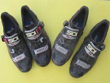2 pairs: Sidi Ergo 2 Carbon sole 3-bolt, 44 Euro / US-10 Mens, black road shoes