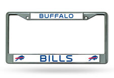 BUFFALO BILLS CHROME METAL LICENSE PLATE FRAME NEW & OFFICIALLY LICENSED