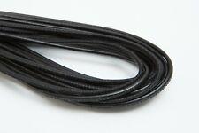Lederschnur (ab 3,5€/m) Gesäumt 2,5 mm. Schwarz. Lederband. Genäht. Lederriemen