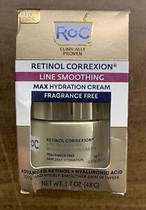 Genuine RoC Retinol Correxion Max Daily Hydration Fragrance Free 1.7 Oz - New