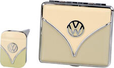 VW VOLKSWAGEN RETRO STYLE GIFT SET CIGARETTE CASE & LIGHTER OLIVE * NEW in BOX *