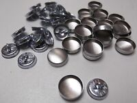 20 X 14mm Fabric Self Cover Buttons Aluminum  Ring Wire Back DIY Fabric Button