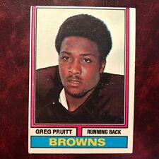1974 Topps Set GREG PRUITT ROOKIE MISCUT BACK #110 CLEVELAND BROWNS - EX