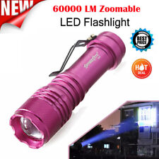 60000 Lumens Q5 AA/14500 3 Modes ZOOMABLE LED Flashlight Torch Super Bright