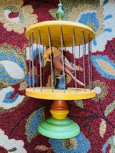 RARE WALTER & JUNE GOTTSHALL 1997 CONTEMPORARY FOLK ART BIRD CAGE