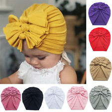 Newborn Kids Turban Knot Headband Head Wrap Baby Cotton Stretch Pleated Cute