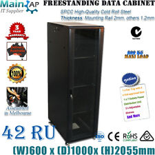 "42U 42RU 19"" 19 inch 1000MM DEEP NETWORK SERVER CABINET DATA RACK 4 FANS"