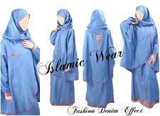 Jilbab new fashion design denim effect