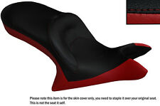 DARK RED & BLACK CUSTOM FITS VICTORY CROSS COUNTRY DUAL LEATHER SEAT COVER