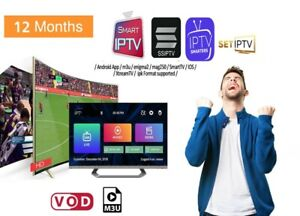 IP TV🔥12 months🔥for smart tv box android and mag box MAG STB M3U&VOD+ADULT+18