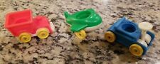 Vintage Fisher Price Little People Train Handcart AND PLANE LOT OF 3 FREE SHIP
