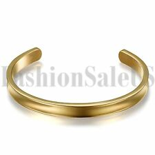 Stainless Steel Black Gold Silver Bracelet Grooved Cuff Bangle for Women Girls