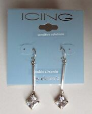7CD Dangle drop cubic zirconia for sensitive ears EARRINGS claire's jewelry