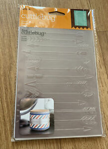 "Cuttlebug Arrows Embossing Folder 5x7"" Cricut New"