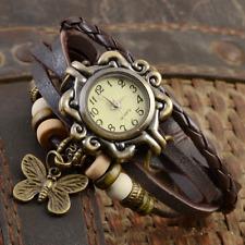 2019 Women Casual Vintage Butterfly Faux Leather Bracelet Ladies Wrist Watch