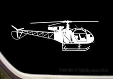 Lama 315 Helicopter Aircraft Round Tank Hi Skid Pilot Decal R018