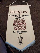 Burnley FC Pennant Rare