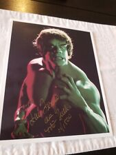 Incredible Hulk Authentic Signed Autograph Prototype Lou Ferrigno Marvel comics
