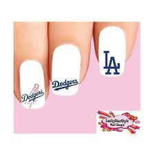 Waterslide Nail Decals Set of 20 - Los Angeles Dodgers Baseball Assorted