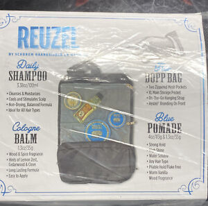 Reuzel 🐷 Can Fly 4~ Piece Gift Set Shampoo,cologne,pomade & Travel Bag - 🤩