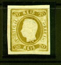 [Portugal 1866/1867 – King Luiz Curved Label] 20 Reis value imperforated
