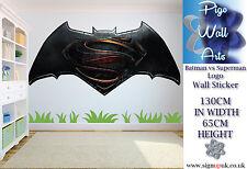 Batman vs Superman Autocollant Mural Extra Large Enfants Chambre À Coucher Enfants Applique Murale.