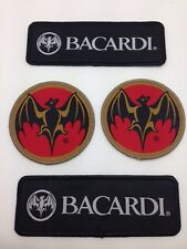 4x BACARDI Parche - 2x Pack doble redondo+anguloso Parche Aufbügler