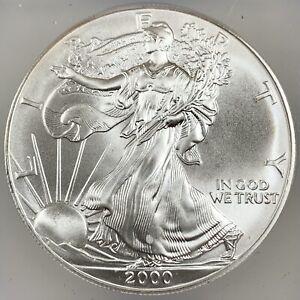 2000 United States 1oz Silver Eagle - ICG MS69