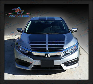 Honda Civic Full Body Racing Graphics Kit A   2016 - 2020