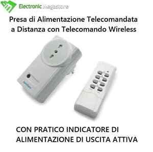Presa telecomandata a distanza avidsen con telecomando wireless 4 canali
