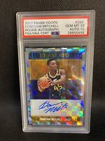 🔥 2017 NBA Hoops Donovan Mitchell Rookie Autograph PSA 10 RC Auto Pop 2!! 🔥