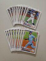 2021 Bowman Texas Rangers Rookie Lot Leddy Taveras x 10 + Anderson Tejada x 9