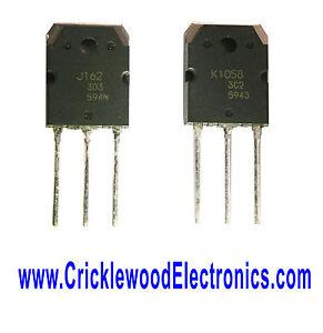 2SJ162 and/or 2SK1058 Genuine Original Renesas (Hitachi) Audio Power Transistors