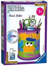 Funky Owls Pencil Holder 3D Puzzle 54 Piece Ravensburger Jigsaw