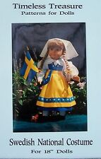 SWEDISH NATIONAL COSTUME - AN ORIGINAL PATTERN FOR 18 IN. & AMERICAN GIRL DOLLS